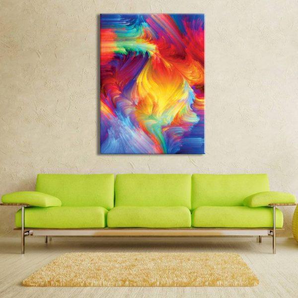 foto op canvas - kunst - kleuren vuurwerk - 12a1