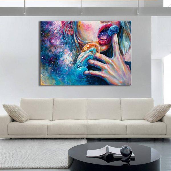 foto op canvas - kunst - planeten - 13a1