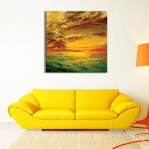 foto op canvas - kunst - wolken en zee - 16a1