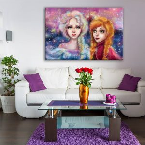 foto op canvas - kunst - 2 zussen - 17a1