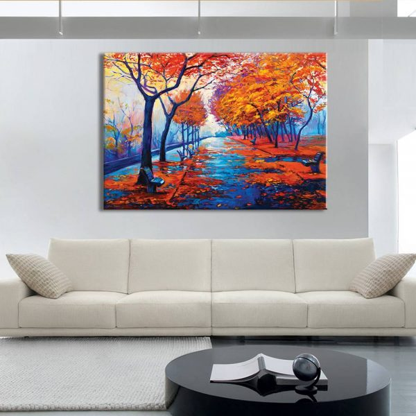 foto op canvas - kunst - bomen herfst - 26a