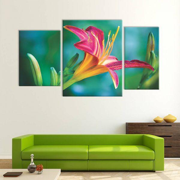 foto op canvas - bloemen - 3 luiken - 8f3