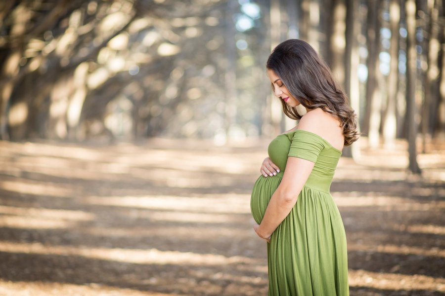 zwangerschapsfoto op canvas idee herinnering