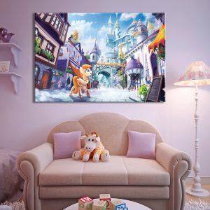 Kinderkamer decoratie van foto op canvas