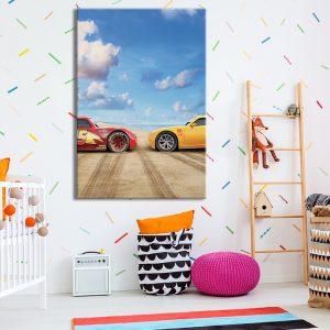 Cars op canvas voor kinderkamer als decoratie