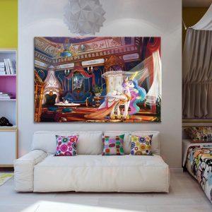 Eenhorn op canvas voor kinderkamer muurdecoratie