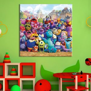 Kinderkamer decoratie van de monsters op canvas