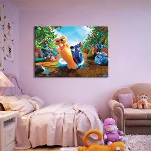 Tekenfilm op canvas voor kinderkamer