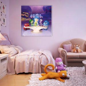 Kinderkamer wanddecoratie met foto op canvas van een tekenfilm