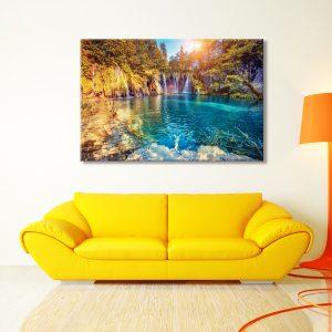 Interieur foto op canvas natuur
