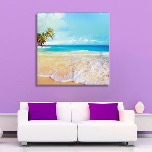 Interieur foto op canvas strand