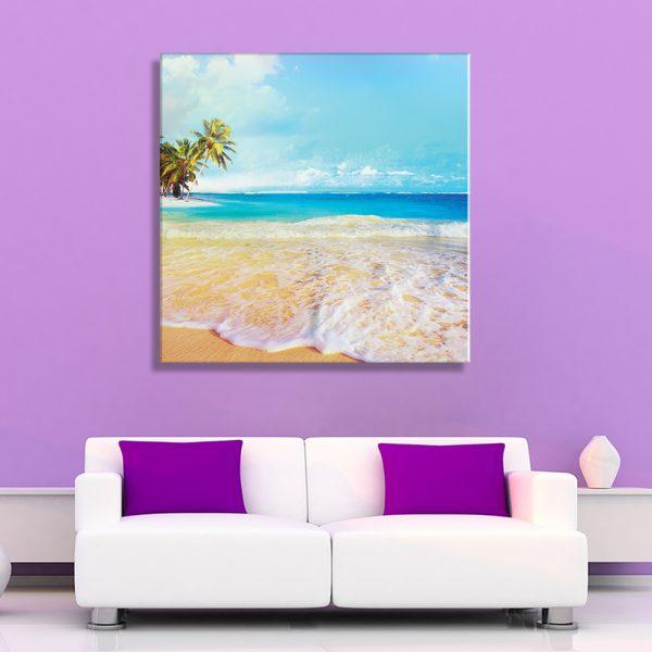 Interieur foto op canvas strand