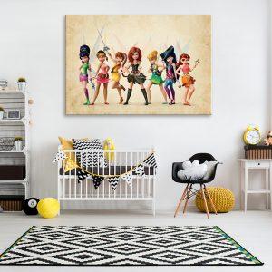 Meisjes kinderkamer muurdecoratie met foto op canvas