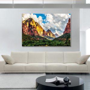 Canvas foto van natuur voor interieur