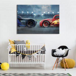 Tekenfilm Cars voor kinderkamer als muurdecoratie