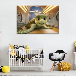 Tekenfilm afbeelding als muurdecoratie voor kinderkamer