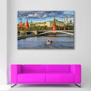 Muurdecoratie met canvas foto van Moskou