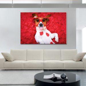 Muurdecoratie met canvas foto van een hond