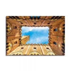Canvas foto van muren en de hemel