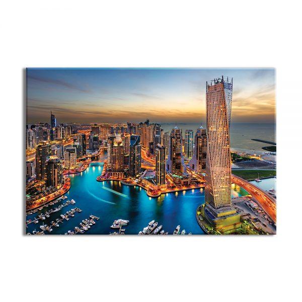 Canvas foto van een stad