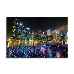 Canvas foto van nachtstad