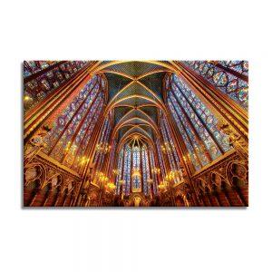 Canvas foto van binnen de kerk