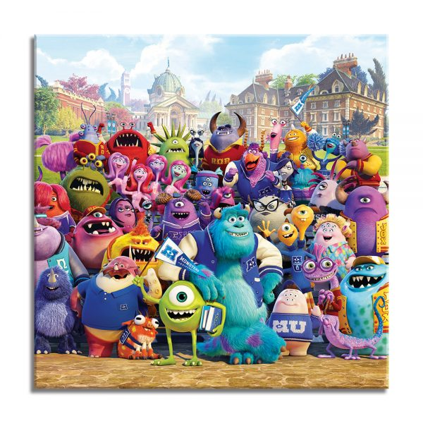 De monsters op canvas voor kinderen