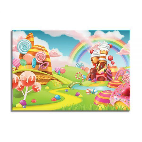 Snoepwereld op canvas voor kinderen