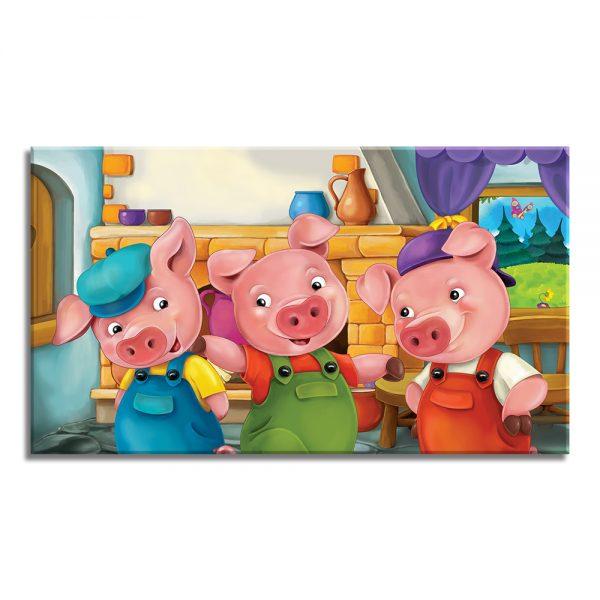 Drie varkentjes voor kinderen