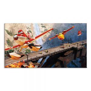 Tekenfilm op canvas foto voor kinderen