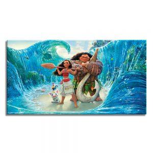 Moana tekenfilm op foto op canvas voor kinderen
