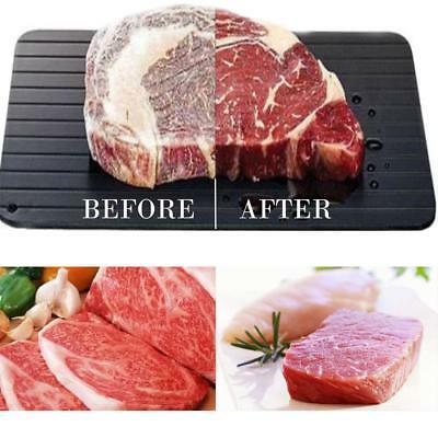 vlees ontdooiplaat afbeelding, voor en na